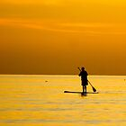 Paddle Border During Sunset by aebritton