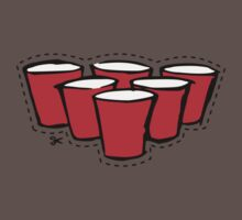 Beer Pong Cutout Kids Clothes