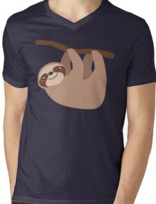 Cute Sloth on a Branch Mens V-Neck T-Shirt