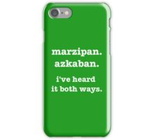 marzipan. azkaban. i've heard it both ways iPhone Case/Skin