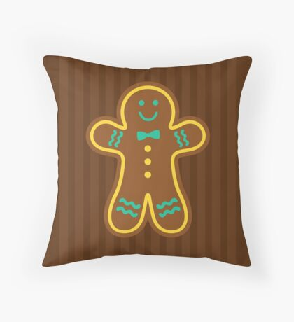 Gingerbread Glace Throw Pillow