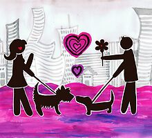 valentine dogs by Adam Asar