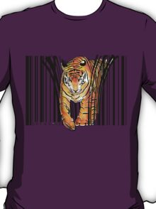 ENDANGERED TIGER BARCODE illustration print T-Shirt