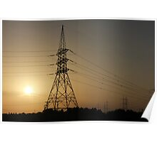 beautiful sunset in riyadh saudi arabia Poster