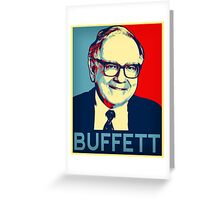 Warren Buffett  Hope Poster Greeting Card