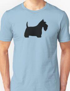 Scottish Terrier Silhouette(s) Unisex T-Shirt