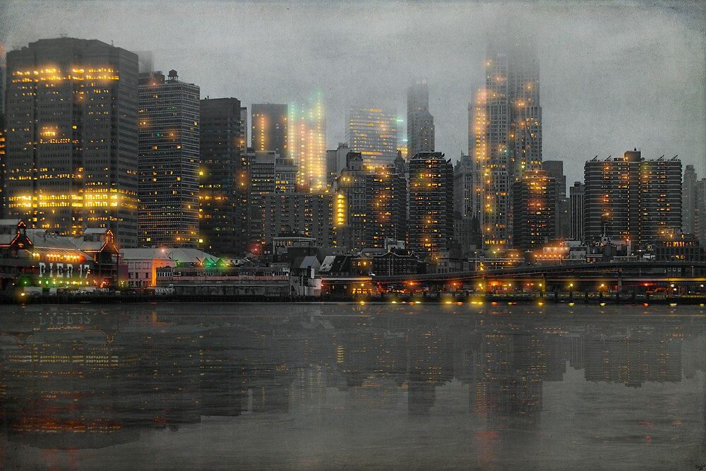 A Gray and Misty Day Downtown by Chris Lord