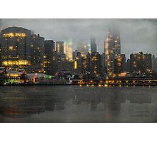 A Gray and Misty Day Downtown Photographic Print
