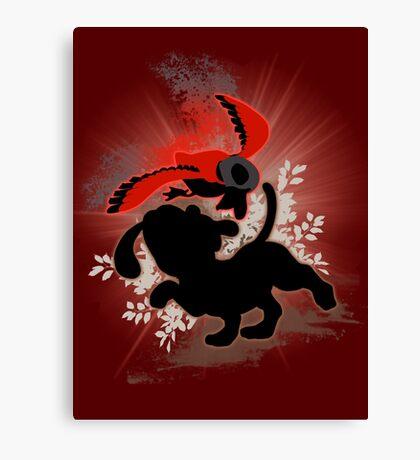 Super Smash Bros. Red Duck Hunt Silhouette Canvas Print