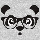 Cute nerd panda by Cheesybee