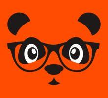 Cute nerd panda Kids Clothes