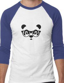 Cute nerd panda Men's Baseball ¾ T-Shirt