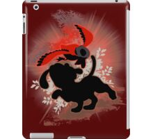 Super Smash Bros. Red Duck Hunt Silhouette iPad Case/Skin