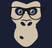 Nerd Ape with glasses Kids Tee