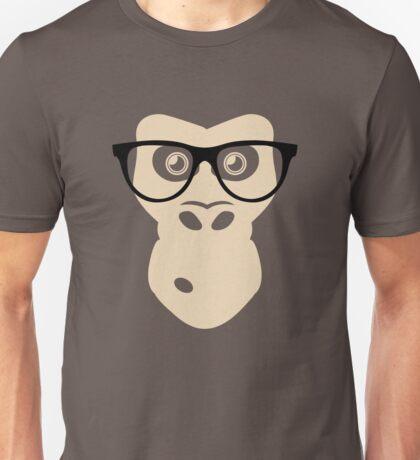 Nerd Ape with glasses Unisex T-Shirt