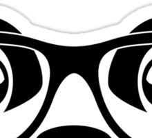 Panda geek with mustache Sticker