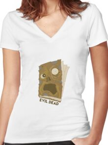 Necronomicon Ex-Mortis Women's Fitted V-Neck T-Shirt