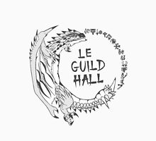 Monster Hunter Le Guild Hall-Silver Rathalos Colored Unisex T-Shirt