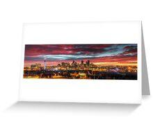 Red Denver Dawn Greeting Card