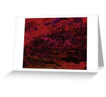 Flora Celeste Ruby Wood texture  Greeting Card
