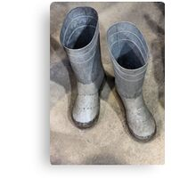 Tin Boots, For The Tin Man Of Course Canvas Print