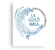 Monster Hunter Le Guild Hall-White Reusu Canvas Print