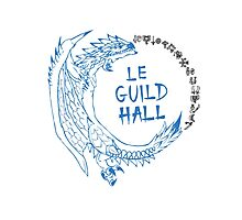 Monster Hunter Le Guild Hall-White Reusu Photographic Print