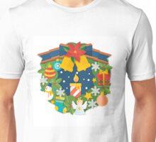 Adorable Christmas wreath Unisex T-Shirt