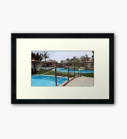 Pool Time in Egypt Framed Print