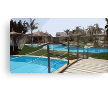 Pool Time in Egypt Canvas Print
