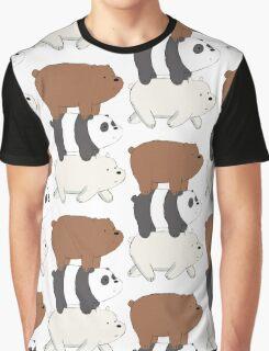 We Bare Bears Bearstack Graphic T-Shirt