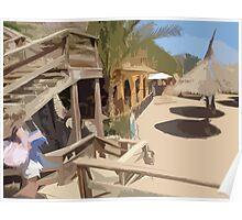 Beach Hut in Egypt Poster