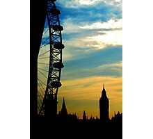 The London Eye, evening sky Photographic Print