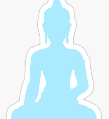 Pastel Sky Buddha Sticker
