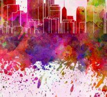 Minneapolis skyline in watercolor background Sticker