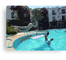 Family Fun Time - Bodrum Canvas Print