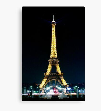 Paris at night- Eiffel Tower Canvas Print