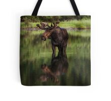 Reflecting Bull - Many Glacier Tote Bag