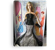 Society Girl Barbie, Full Doll View, Style Set Collection Canvas Print