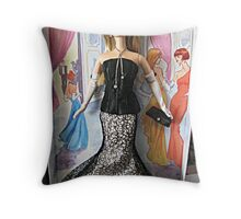 Society Girl Barbie, Full Doll View, Style Set Collection Throw Pillow