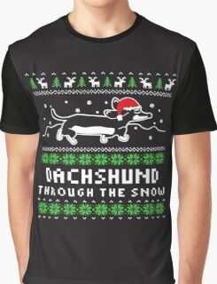 DACHSHUND THROUGH THE SNOW Graphic T-Shirt