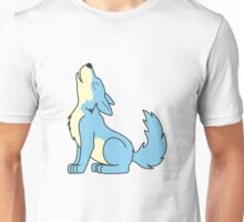 Light Blue Howling Wolf Pup Unisex T-Shirt
