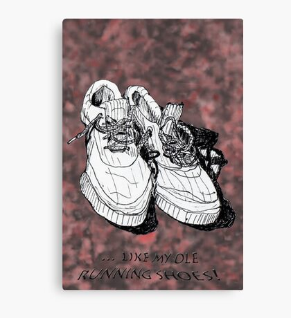 my old running shoes...  Canvas Print