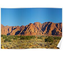 Beautiful high desert colours, Utah Poster