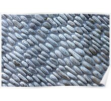 Pebbles Stone Wall Poster