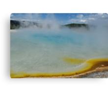 Multicoloured hot pool,Yellowstone Canvas Print