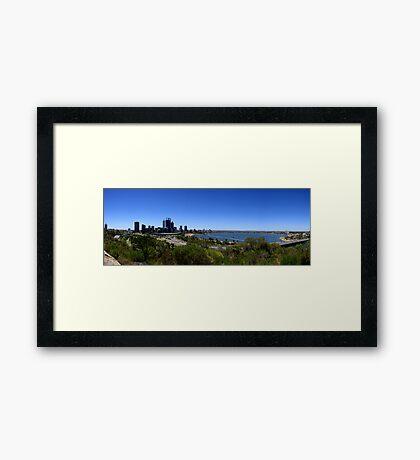 Perth Panorama Framed Print