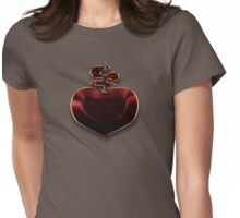 Unbreakable Crimson Red Heart  Womens Fitted T-Shirt