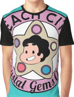Steven Universe - Beach City Crystal Gems Club Graphic T-Shirt