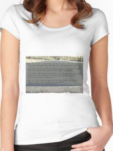 My Mother, Mary Jane Young's, Gravestone Women's Fitted Scoop T-Shirt